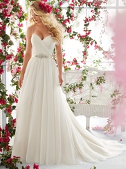 Mori Lee Voyage 6812 Sweetheart Wedding Dress