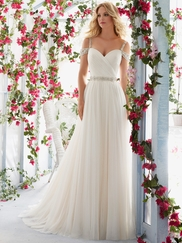 Mori Lee Voyage 6814 Sweetheart Draped Wedding Dress