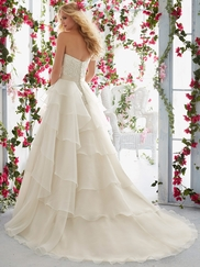Mori Lee Voyage 6817 Sweetheart Lace Wedding Dress