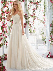 Mori Lee Voyage 6818 Sweetheart Lace Wedding Dress