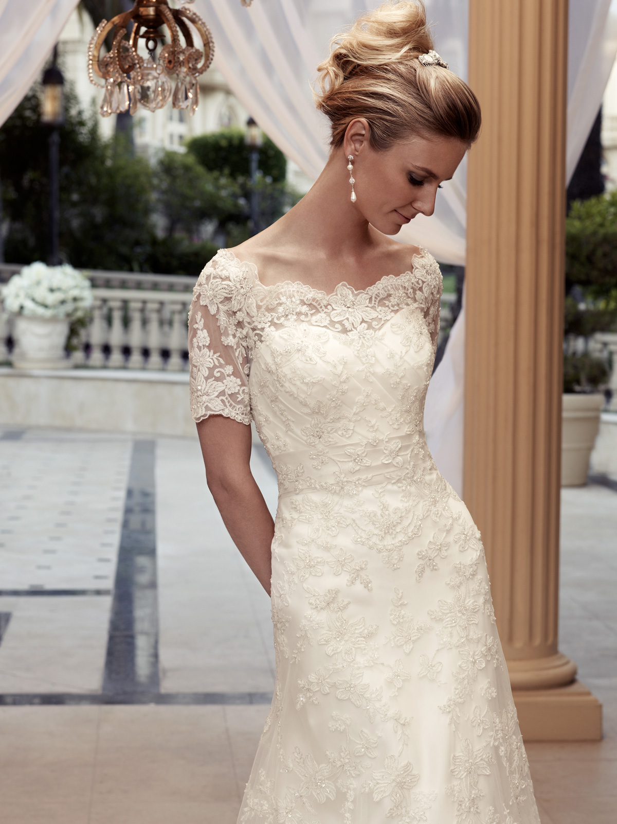 Exquisite A Line Gown Bridal