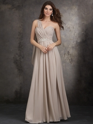 One Shoulder A-Line Allure Bridesmaids Dress 1407