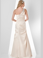 One Shoulder Pleated Bridesmaid Dress Bari Jay 857