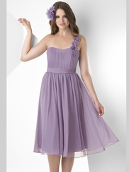 One Shoulder Pleated Bridesmaid Dress Bari Jay 874