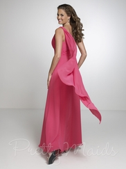 One Shoulder Pleated Pretty Maids Bridesmaid Dress 22526