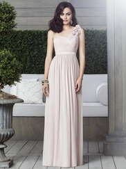 One Shoulder Ruched Bridesmaid Dress Dessy 2909