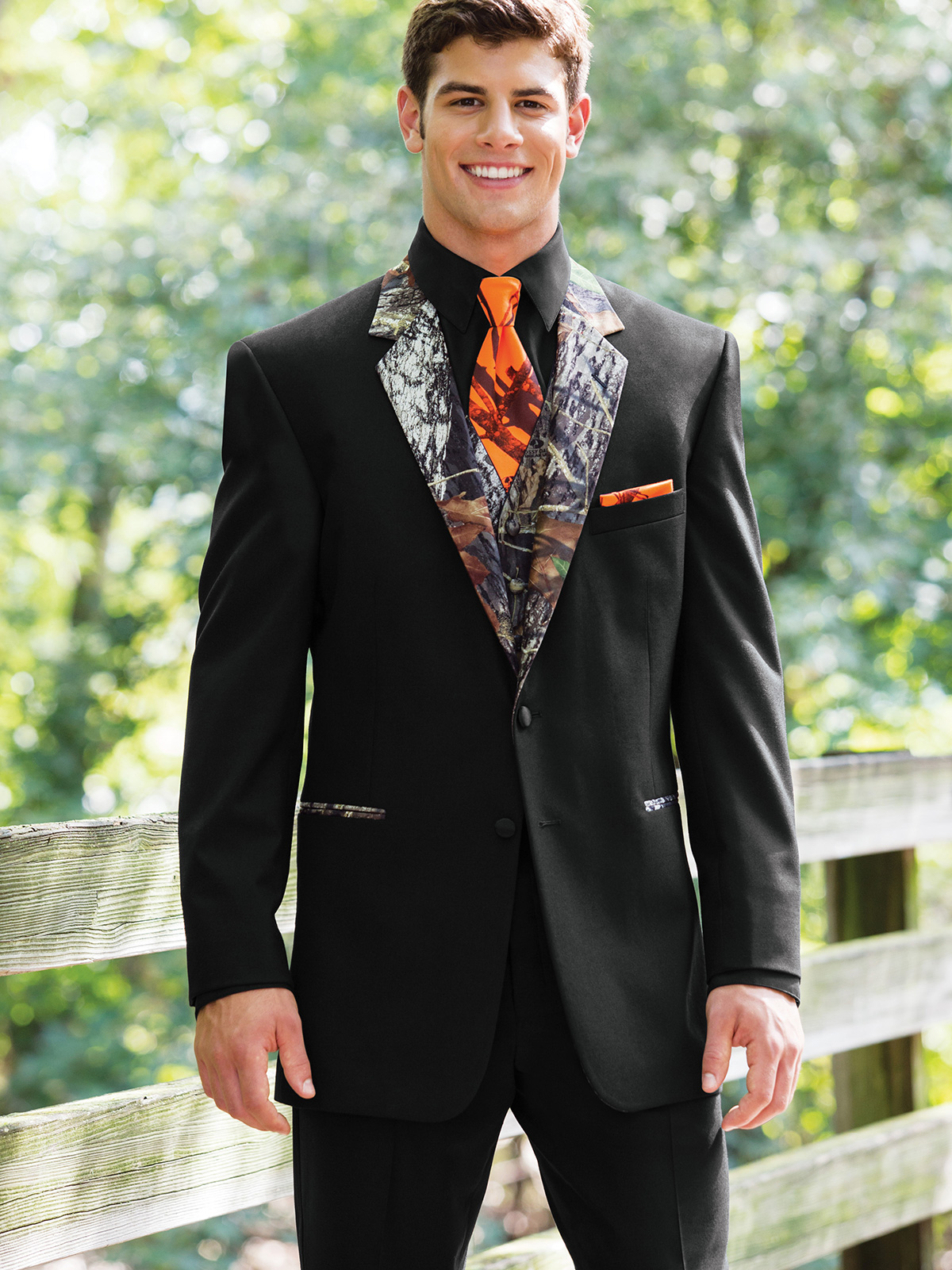 Modern Fit Camouflage Tuxedo For Prom