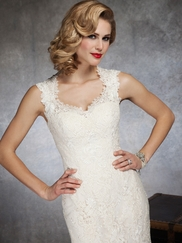 Romantic Lace Sweetheart Capped Sleeves Justin Alexander 8656 Bridal Gown