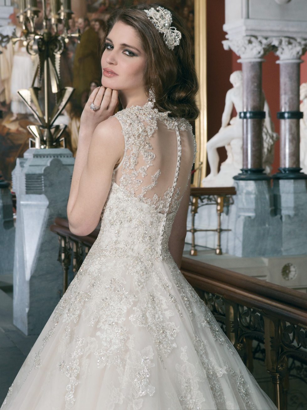 Unforgettable Embroidered Bodice Bridal Gown By Justin Alexander 8726
