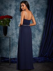 Sapphire Alfred Angelo 8103L Column Chiffon Bridesmaids Dress