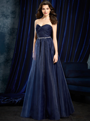 Sapphire Alfred Angelo 8107L Gathered Organza Bridesmaids Dress