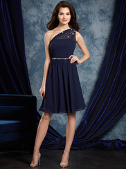 Sapphire Alfred Angelo 8109S One Shoulder Bridesmaids Dress