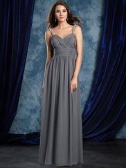 Sapphire Alfred Angelo 8110L Beaded Straps Bridesmaids Dress