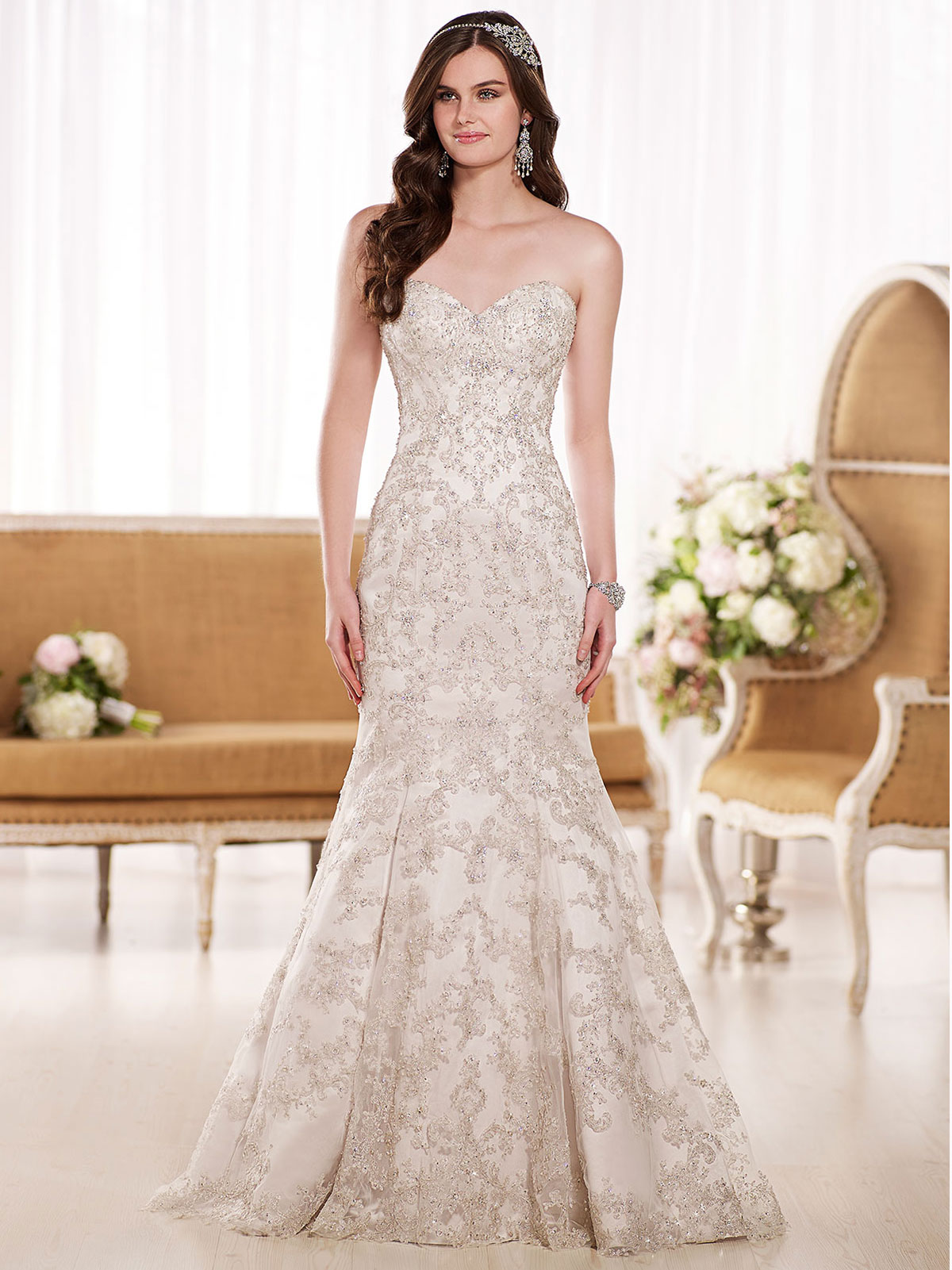 Essense Wedding Gown D1869: DimitraDesigns.com
