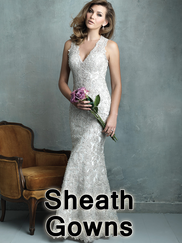 Sheath Wedding Gowns
