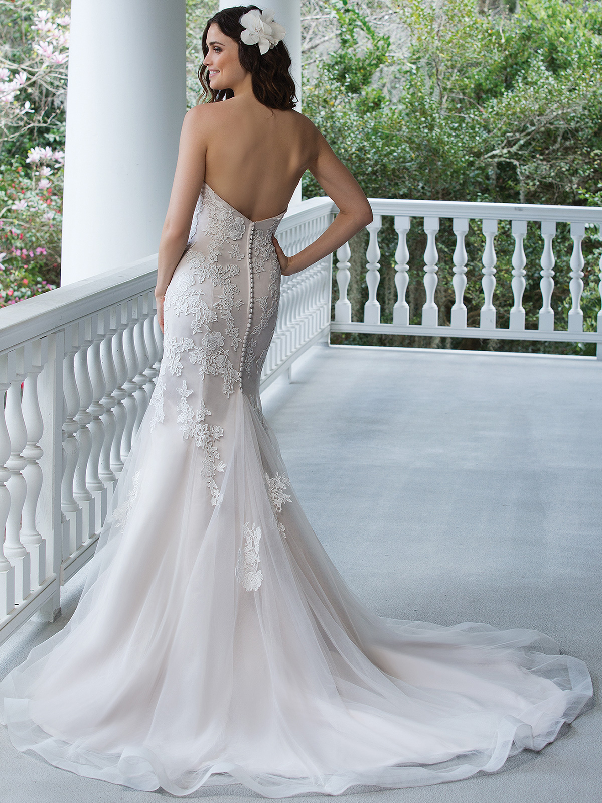 Sincerity 3942 Tulle Fit And Flare Bridal Dress|DimitraDesigns.com