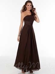 Single Strap With Ruffle Pretty Maids Bridesmaid Dress 22602