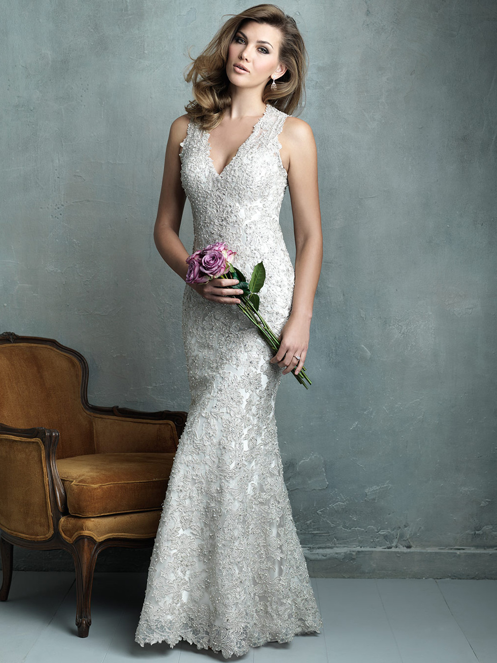 Allure couture lace wedding dress