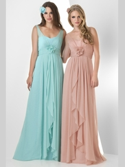 Sleeveless Pleated Bridesmaid Dress Bari Jay 855