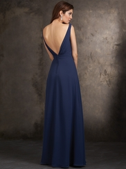 Sleeveless V-Neckline Allure Bridesmaids Long Dress 1421
