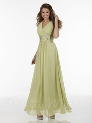 Sleeveless V-Neckline Pretty Maids Bridesmaid Dress 22593
