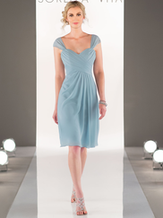 Sorella Vita 8629 Cap Sleeves Bridesmaid Dress