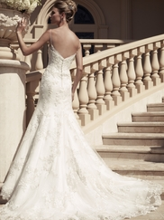 Spaghetti Strap Beaded Lace Bridal Gown Casablanca 2117