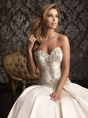 Strapless Allure Bridal Ball Gown Wedding Dress 9003