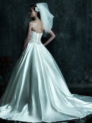 Strapless Crystal-Embroidered Bodice Wedding Dress Couture By Allure Bridals C247
