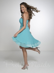 Strapless Empire Pretty Maids Bridesmaid Dress 22538