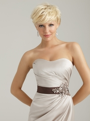 Strapless  Fitted Allure Bridesmaid Dress 1330