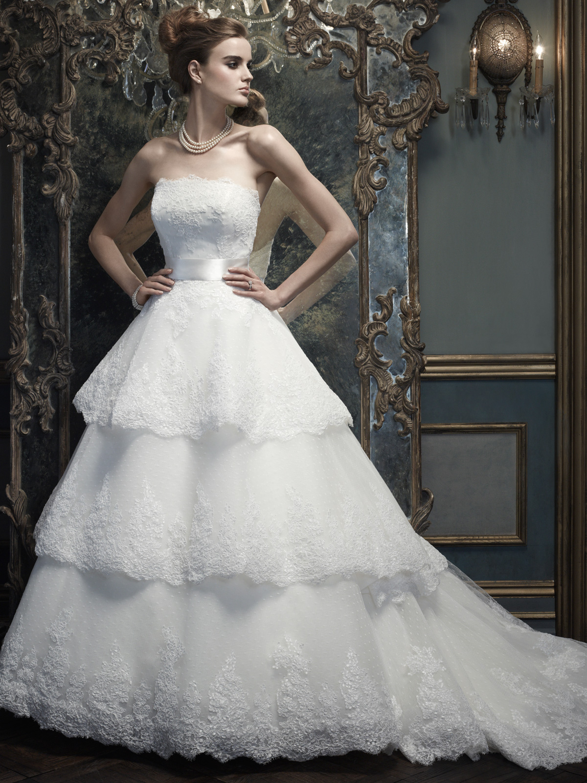 strapless ball gown cb couture bridal gown b064