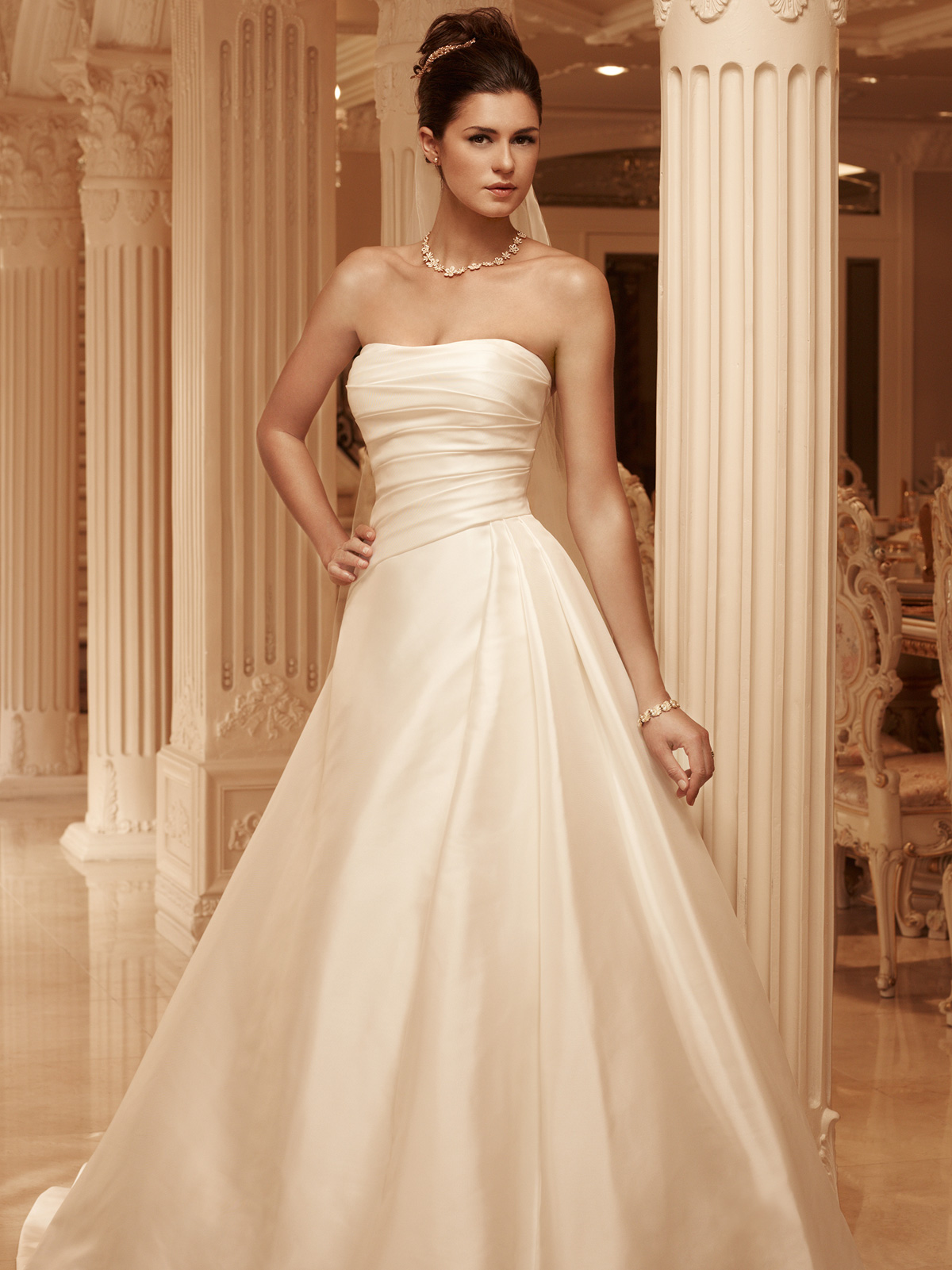 Strapless Full A-line Casablanca Bridal Gown 2101|DimitraDesigns.com