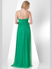 Strapless Pleated Bridesmaid Dress Bari Jay 856
