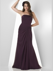 Strapless Pleated Bridesmaid Dress Bari Jay 858