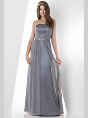 Strapless Pleated Bridesmaid Dress Bari Jay 860