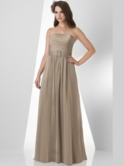 Strapless Pleated Bridesmaid Dress Bari Jay 862