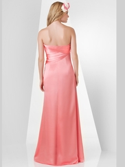 Strapless Pleated Bridesmaid Dress Bari Jay 863