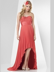 Strapless Pleated Bridesmaid Dress Bari Jay 865
