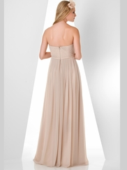 Strapless Pleated Bridesmaid Dress Bari Jay 870
