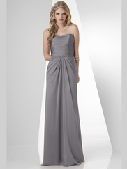 Strapless Pleated Bridesmaid Dress Bari Jay 872