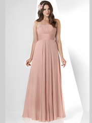 Strapless Pleated Bridesmaid Dress Bari Jay 878