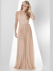 Strapless Pleated Bridesmaid Dress Bari Jay 880