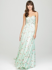 Strapless Printed Allure Bridesmaids Long Dress 1441