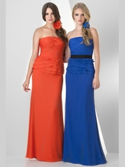 Strapless Ruched Bridesmaid Dress Bari Jay 851