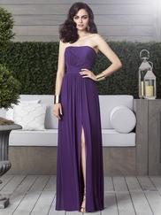 Strapless Ruched Bridesmaid Dress Dessy 2910