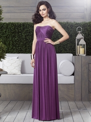 Strapless Ruched Bridesmaid Dress Dessy 2914