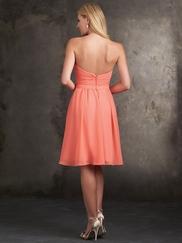 Strapless Sweetheart Allure Bridesmaids Dress 1414