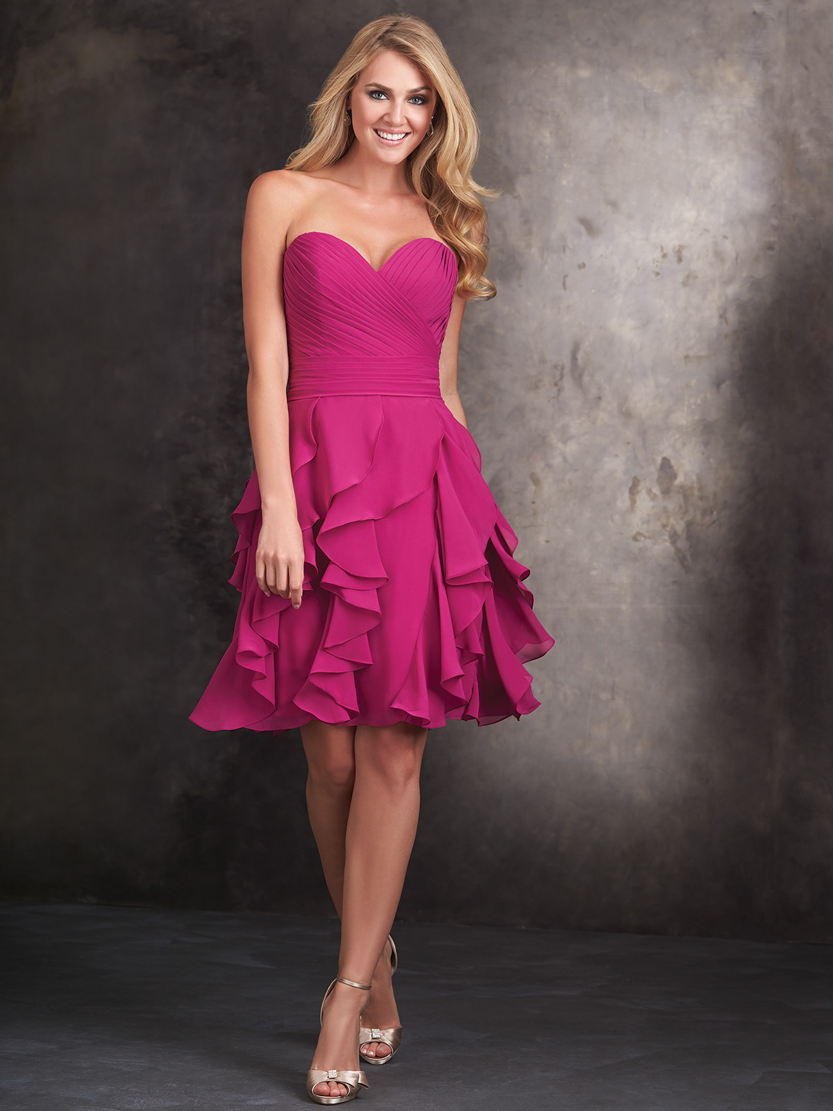 Excelente Allure Bridesmaid Dress Componente - Ideas de Estilos de ...