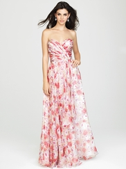 Strapless Sweetheart Allure Bridesmaids Long Dress 1436